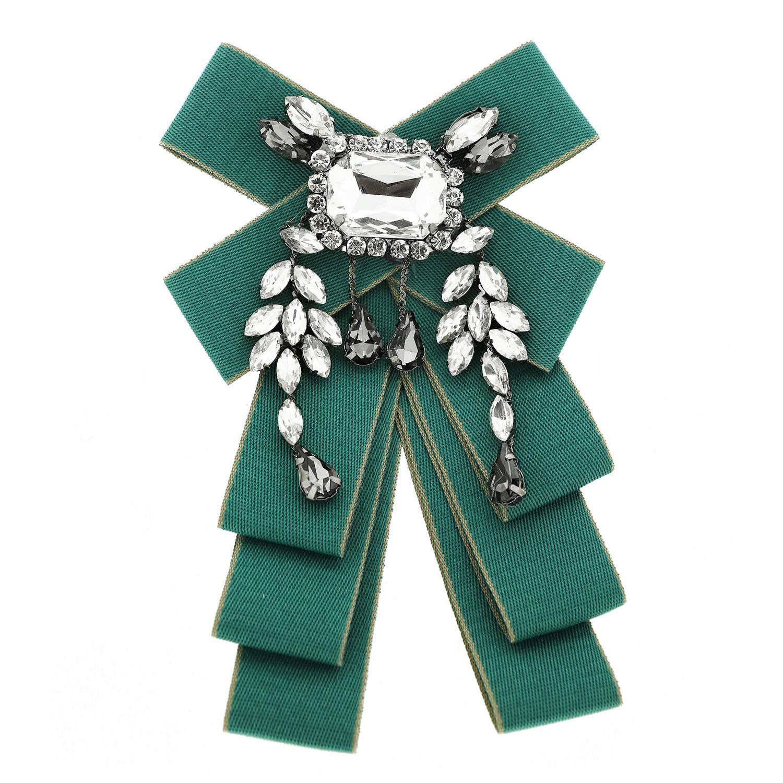 Brosche Loop, grün crystal bl.diamond 0