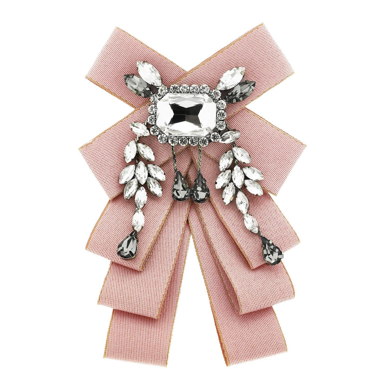 Brosche Loop, rose crystal bl.diamond 0