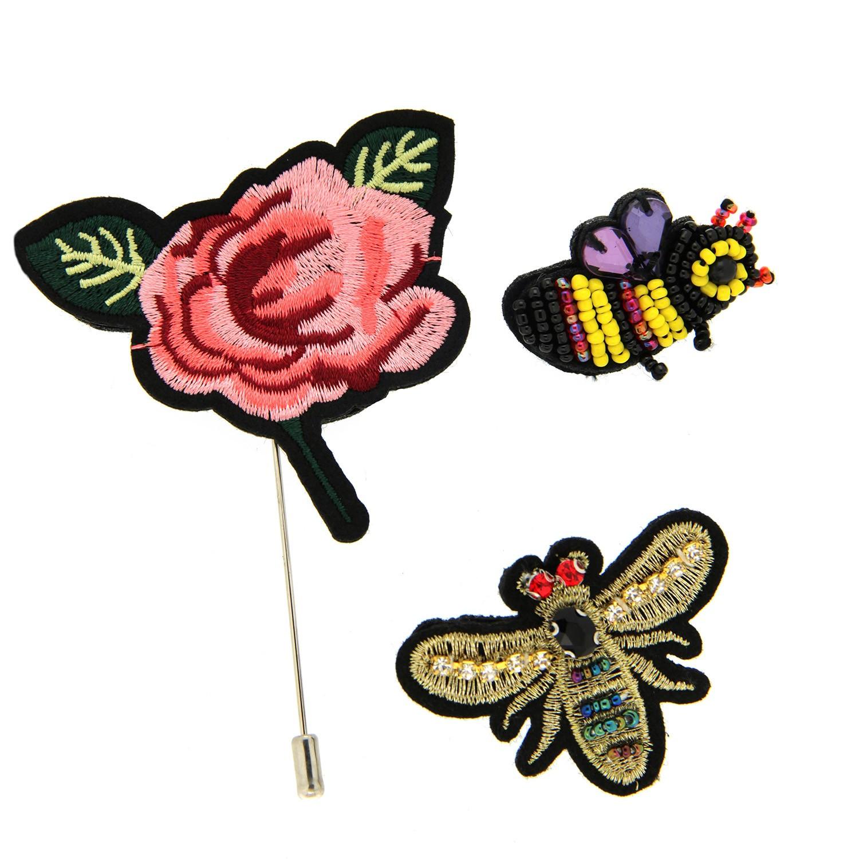 Broschen Set Rose Bienen 0