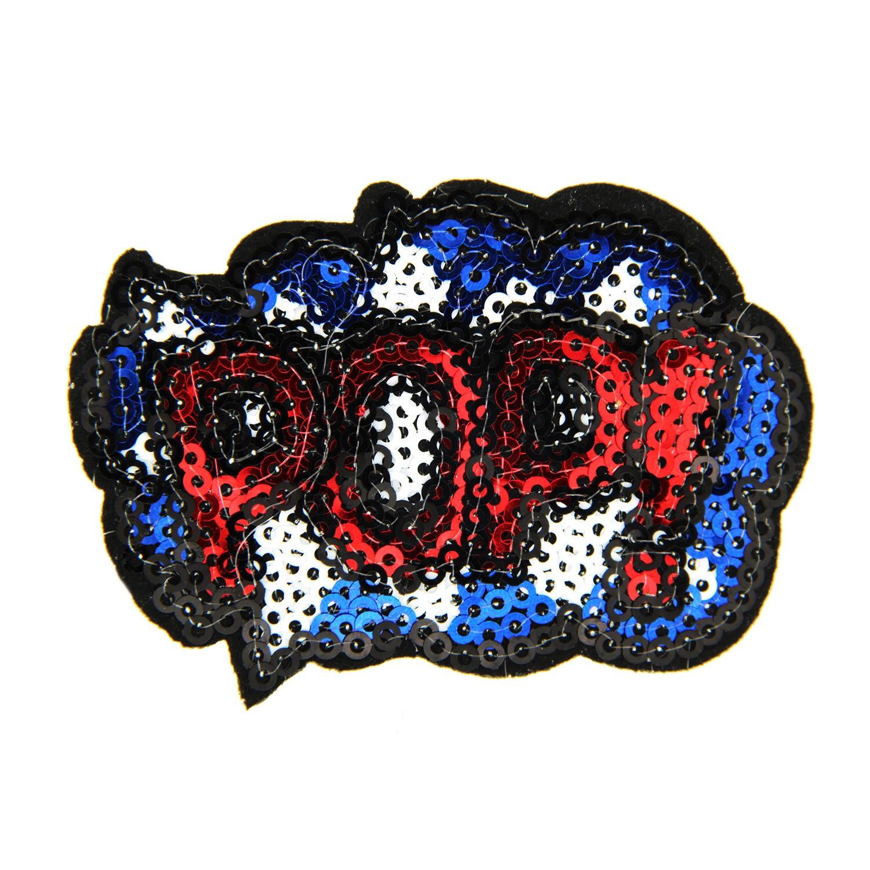 Brosche Pop, blau rot weiß 0