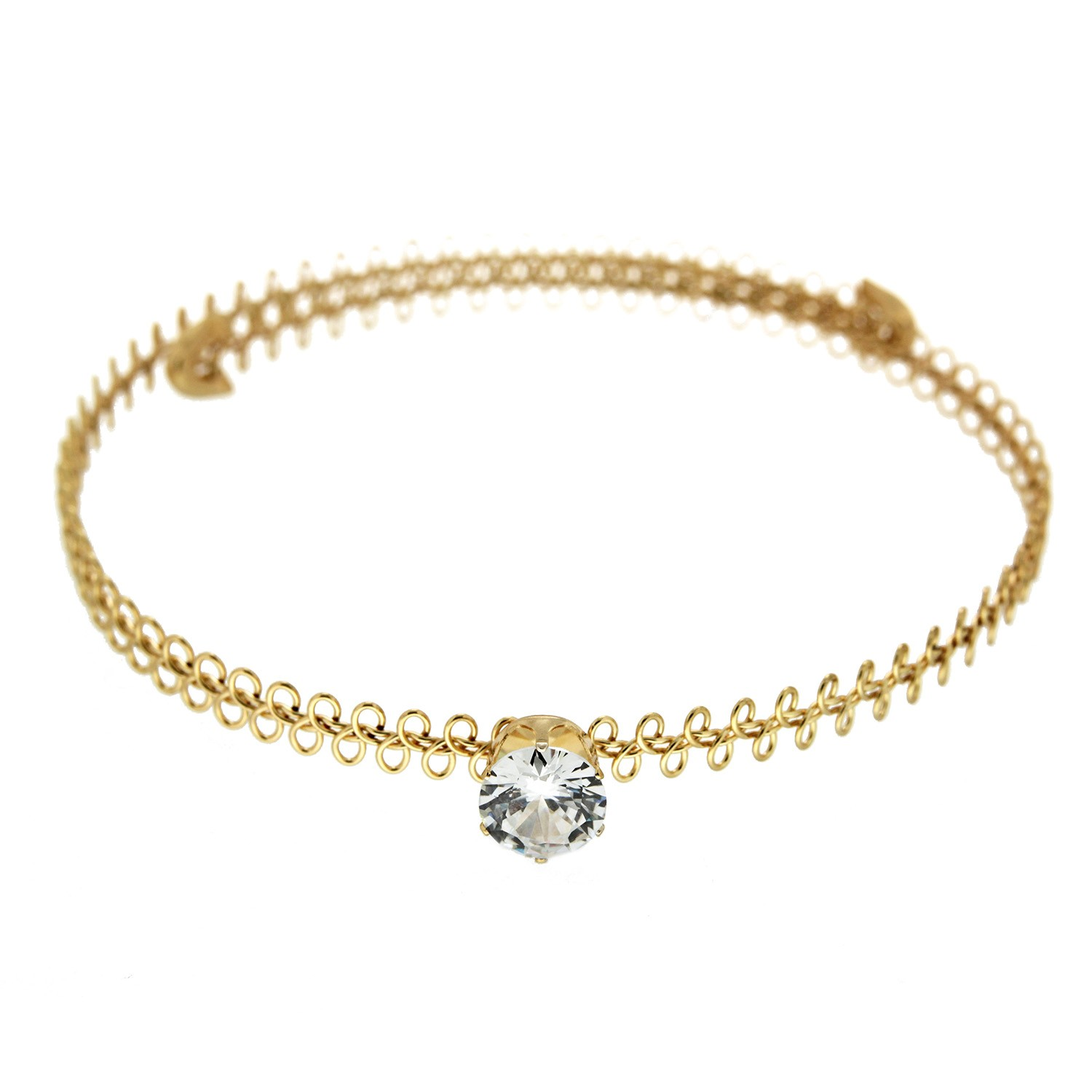 Choker Tracy I, gold crystal 0
