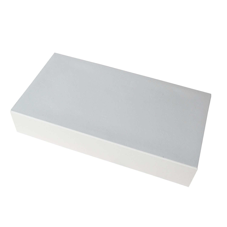 Deko Platte eckig dick weiß 0