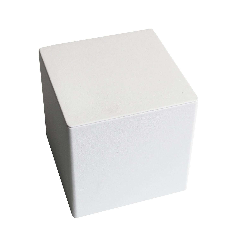 Deko Würfel breit groß weiß 0