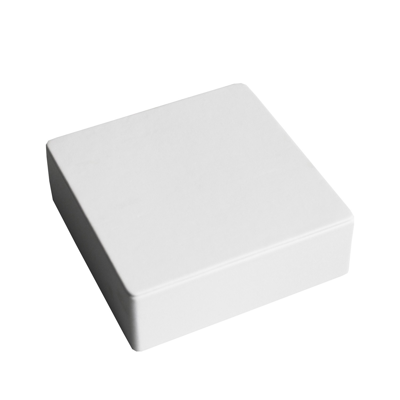 Deko Würfel breit klein weiß 0