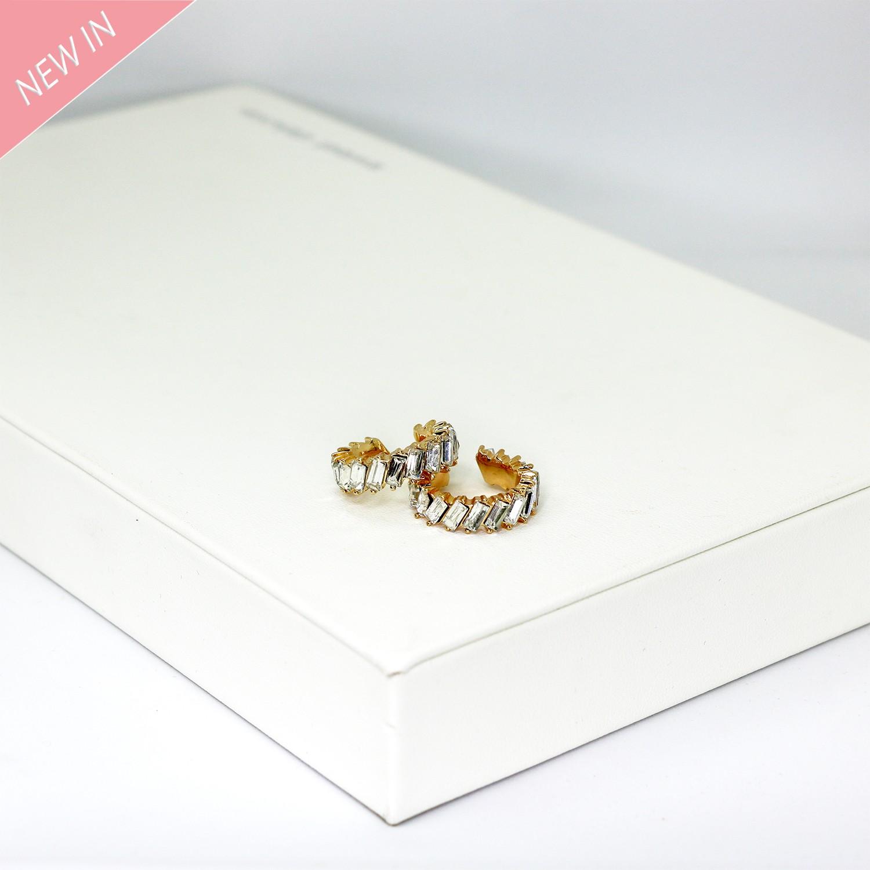 Earcuff Dinah, gold crystal 0