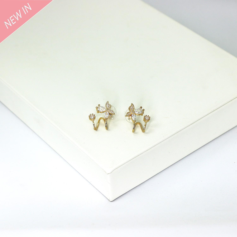 Earcuffs Dunja,  gold crystal 0