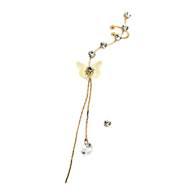 Ear Cuff Vivien, gold crystal 0