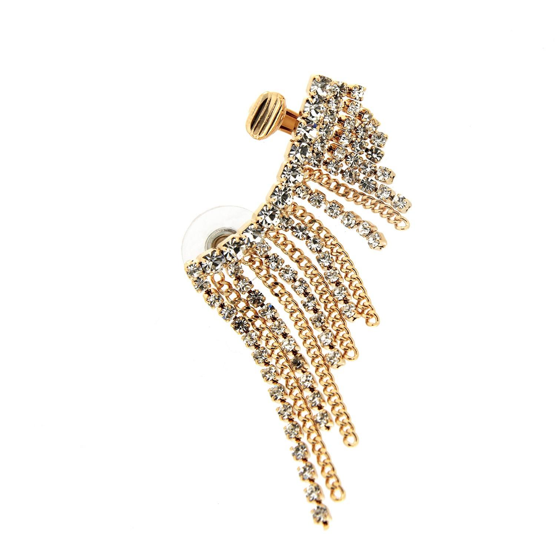 Ear Cuff Wolke, gold crystal 0