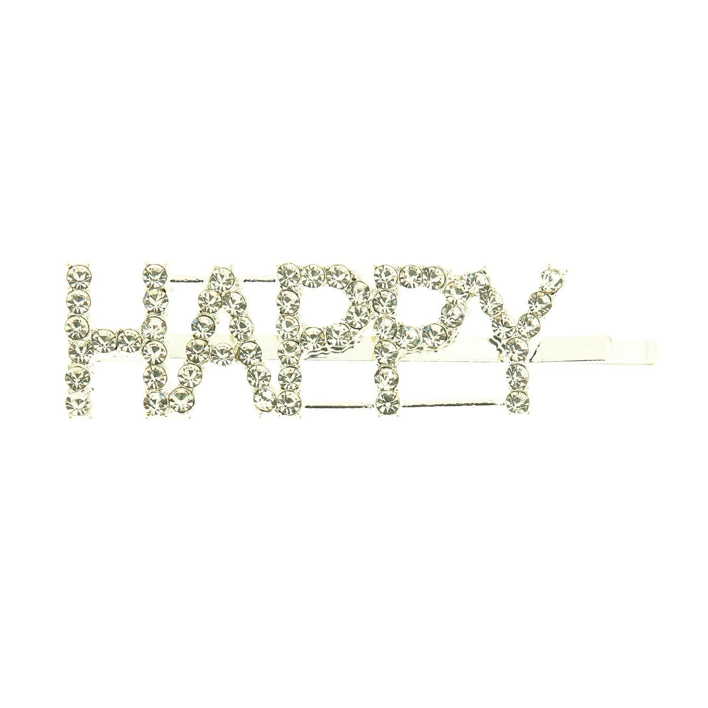 Haarschmuck Happy, silber crystal 0