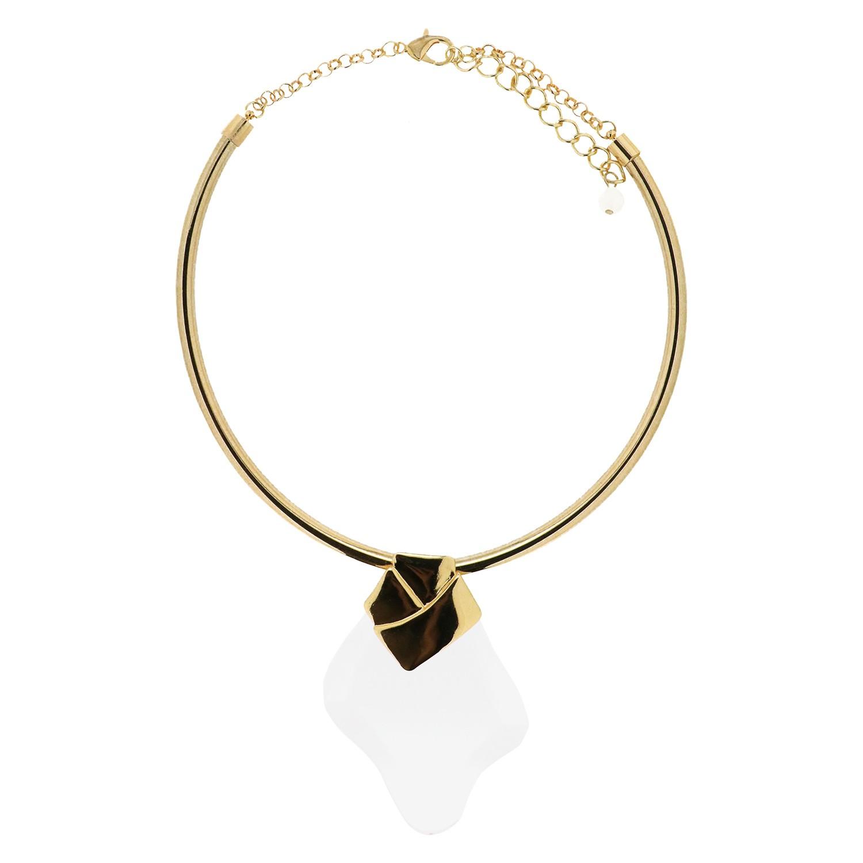 Halsreif Ellida, gold Acryl klar 0