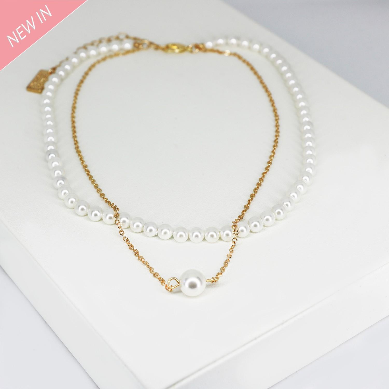 Halsschmuck Bella, pearl gold 0