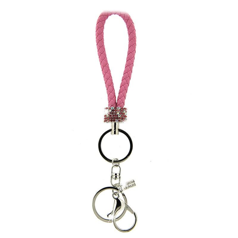Schlüsselanhänger Loop silber/pink 0