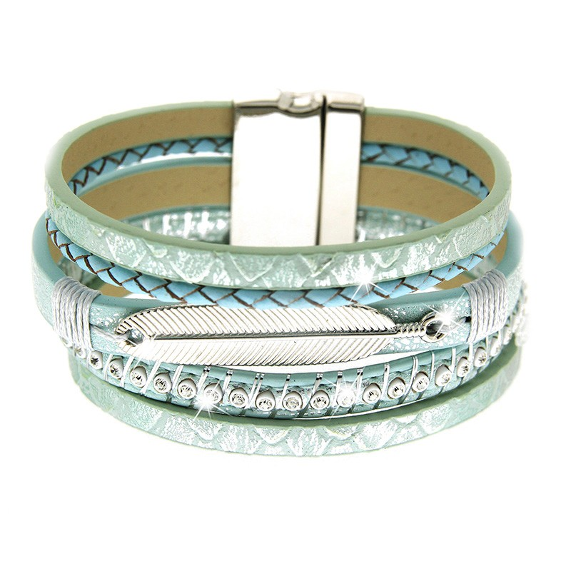 Armband Piada, mint/silber/crystal 0