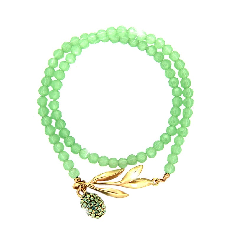 Armband Royal, mattgold/grün/grün opal 0