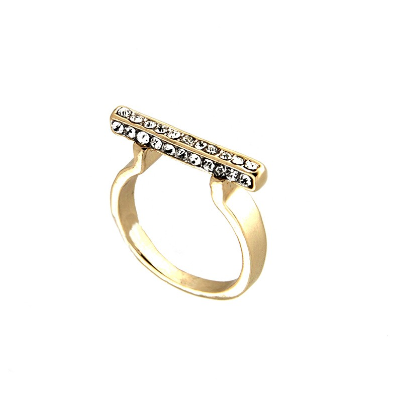 Ring Teija, gold/crystal 0