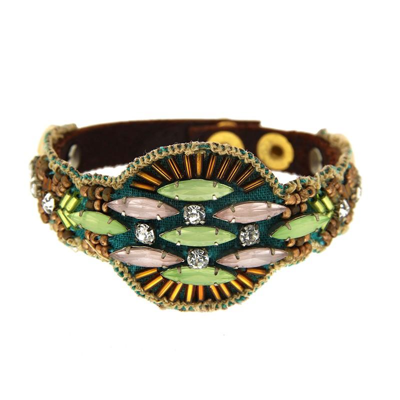 Armband Bozena, braun/grün mix 0