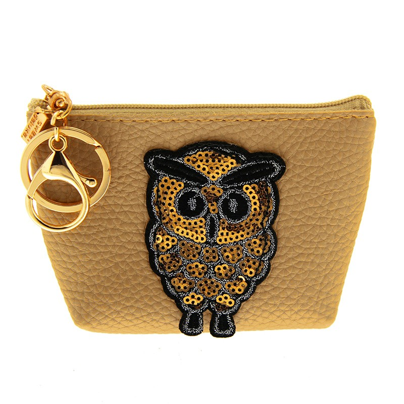 Schlüsselanhänger Owl, gold/braun 0