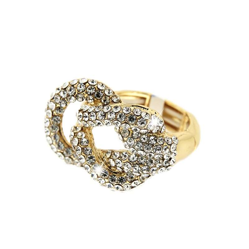 Stretchring Sari, gold/crystal 0