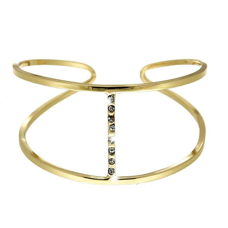 Armreif Zita, crystal/ gold plating 0