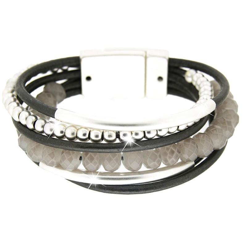 Armband Rabea, mattsilber/grau 0