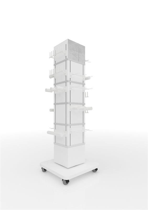Deko Tower 4 Seiten ohne Module, weiß 0