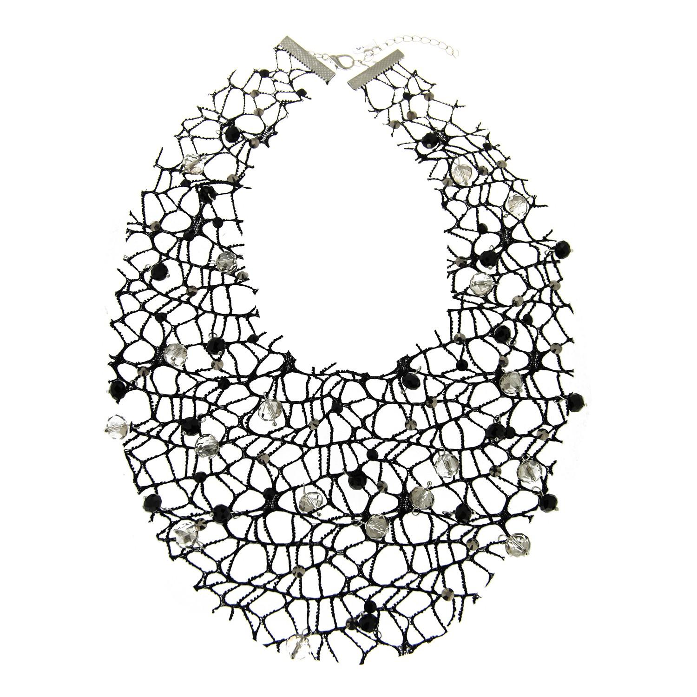 Kette Ailina, schwarz silber li.bl.diamond 0
