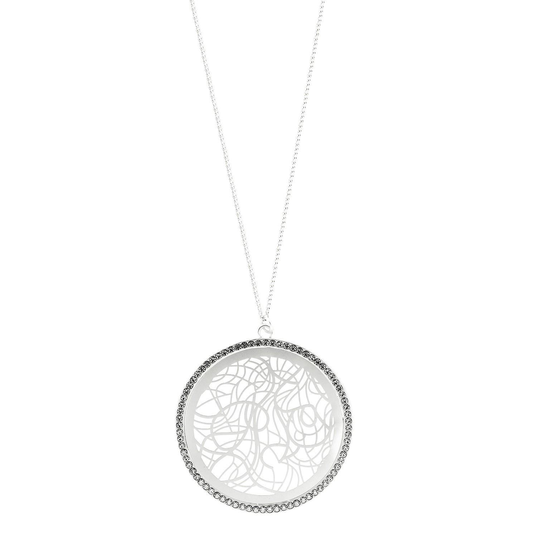 Kette Anemone, mattsilber crystal 0
