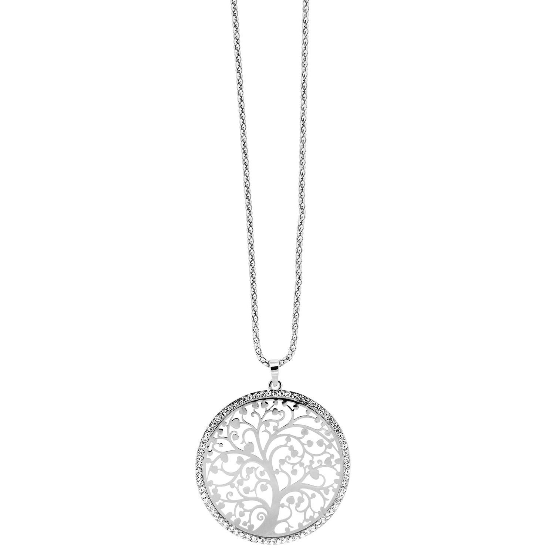 Kette Baum, silber crystal 0