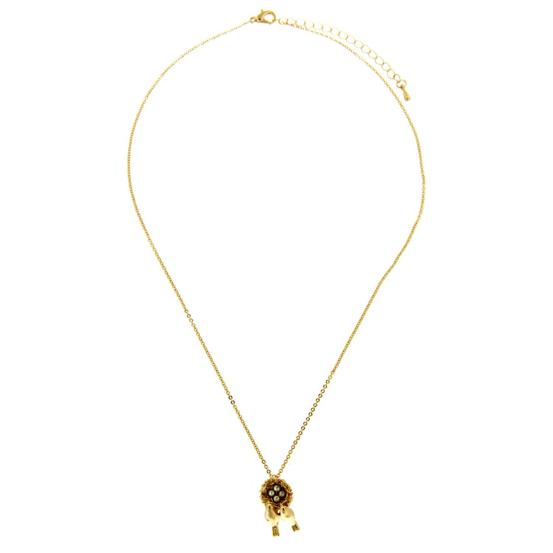 Kette Bird´s nest, mattgold pearl 0