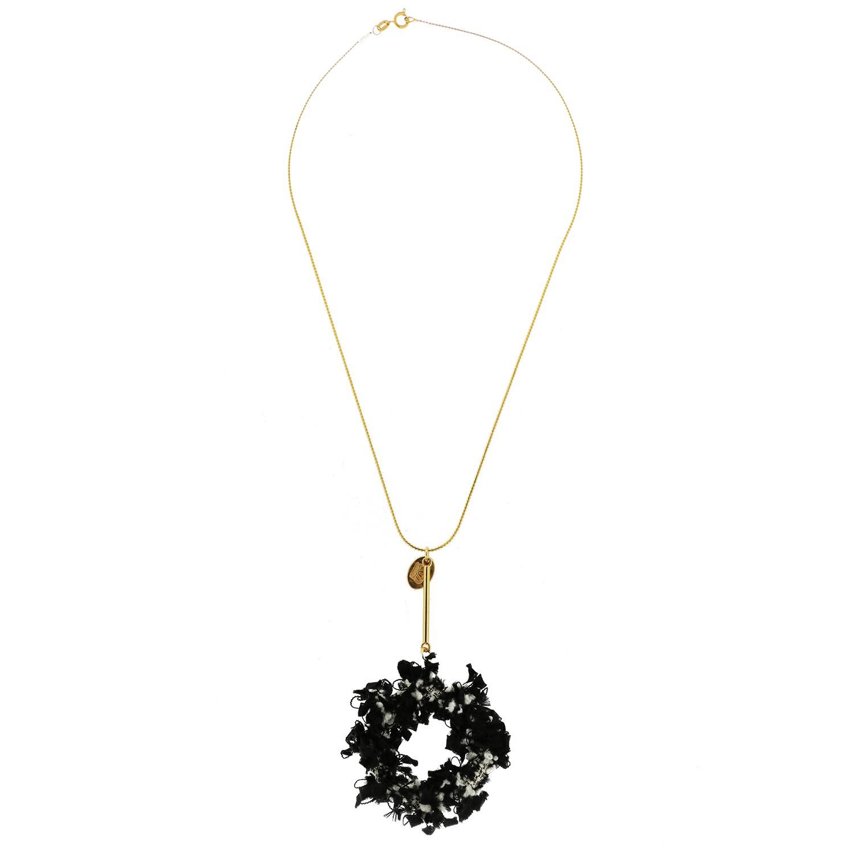 Kette Coco Style, gold schwarz weiß 0