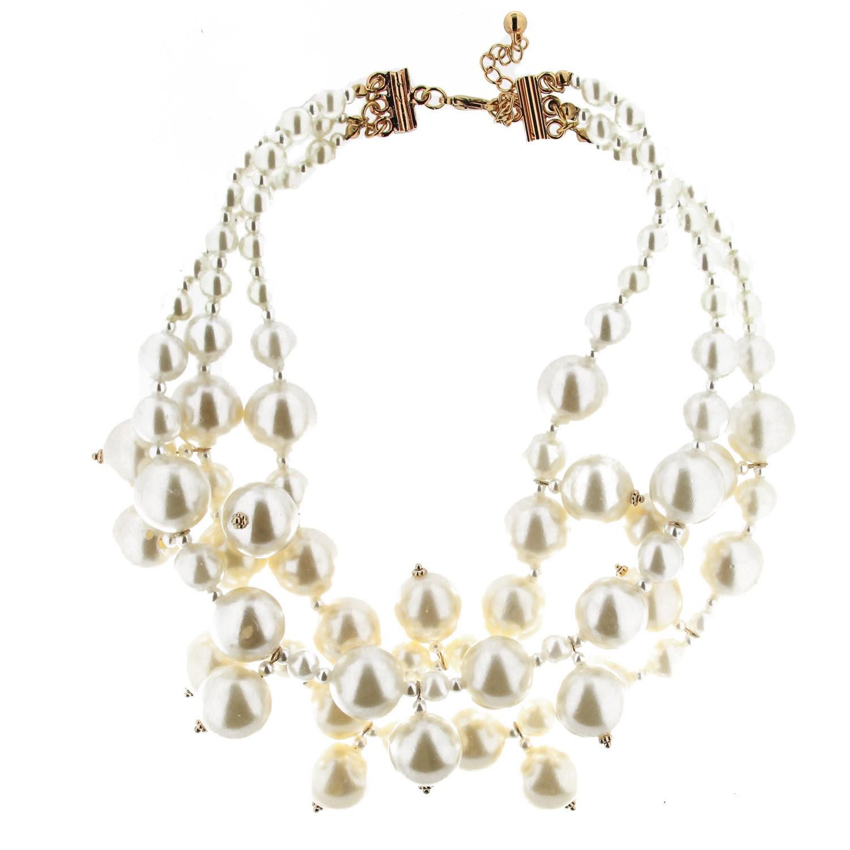 Kette Danuta,gold Perlen 0