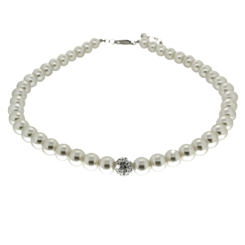 Kette elegant pearl weiß 0