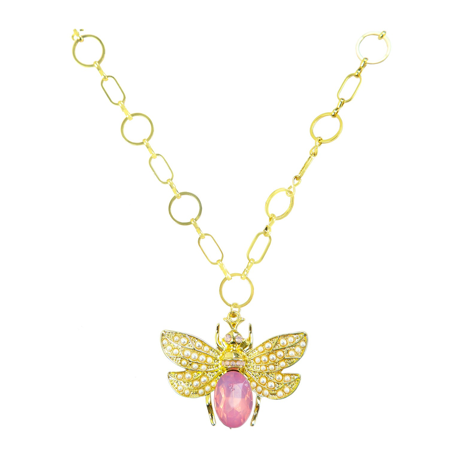 Kette Ellis, gold rose pearl 0