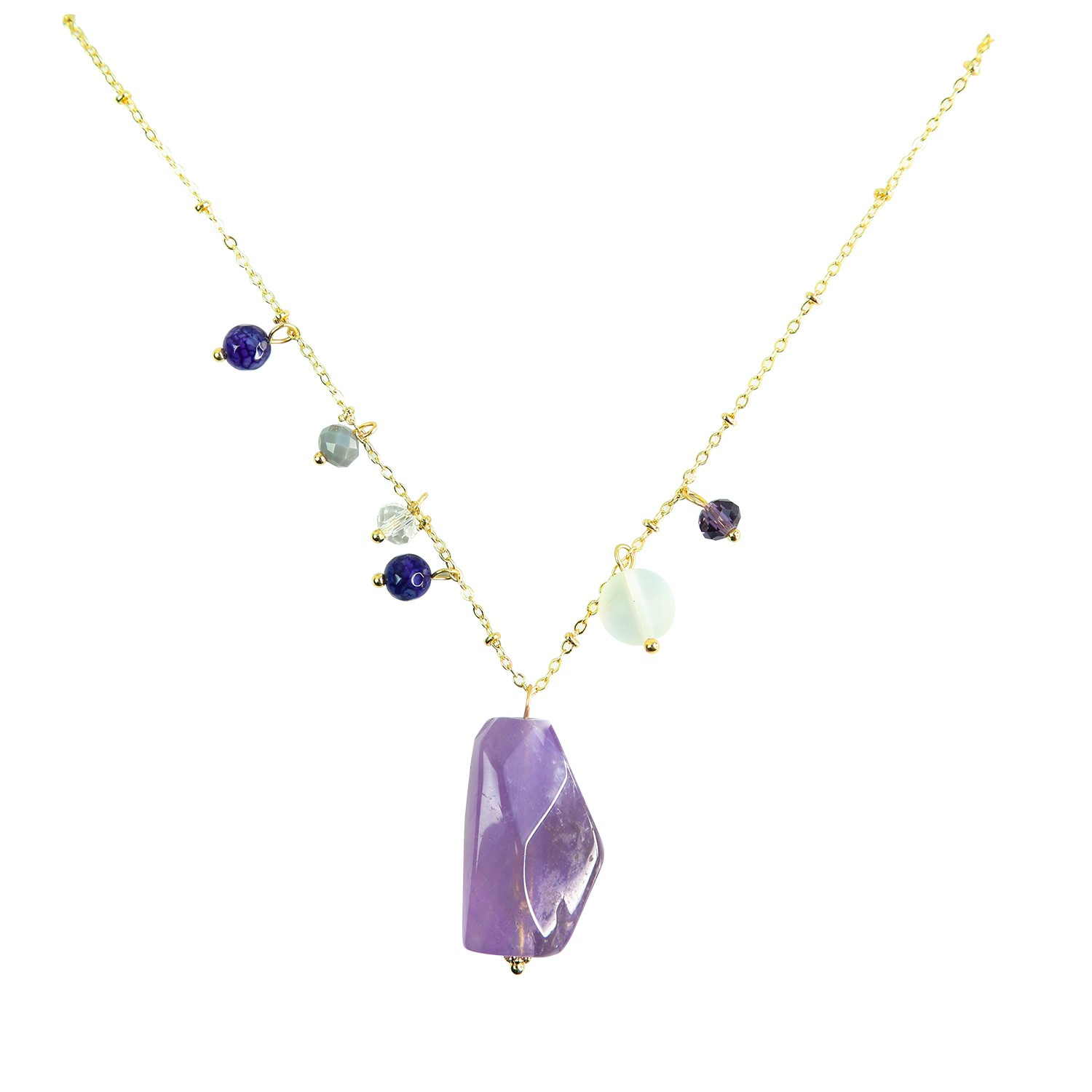 Kette Emanuela, gold purple 0