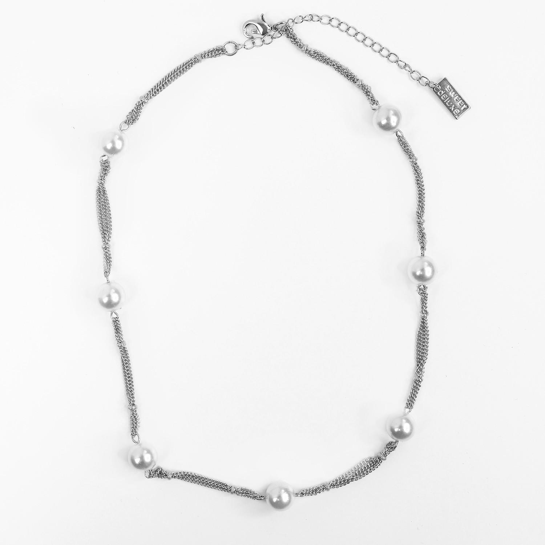 Kette Fehilde, silber Perle 0