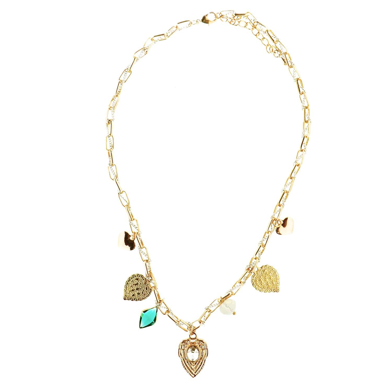 Kette Felemina, gold crystal grün 0