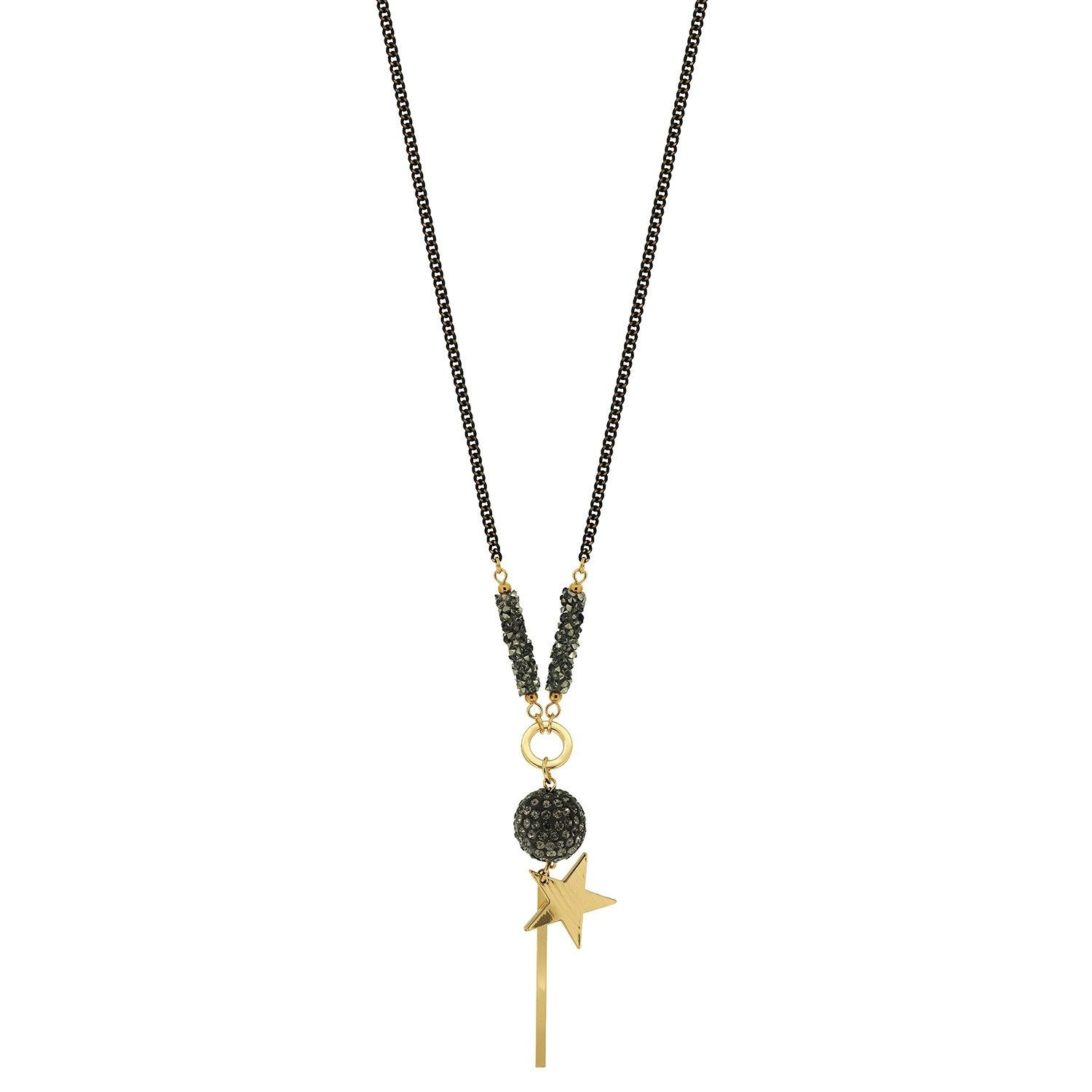 Kette Felisha, gold black diamond 0
