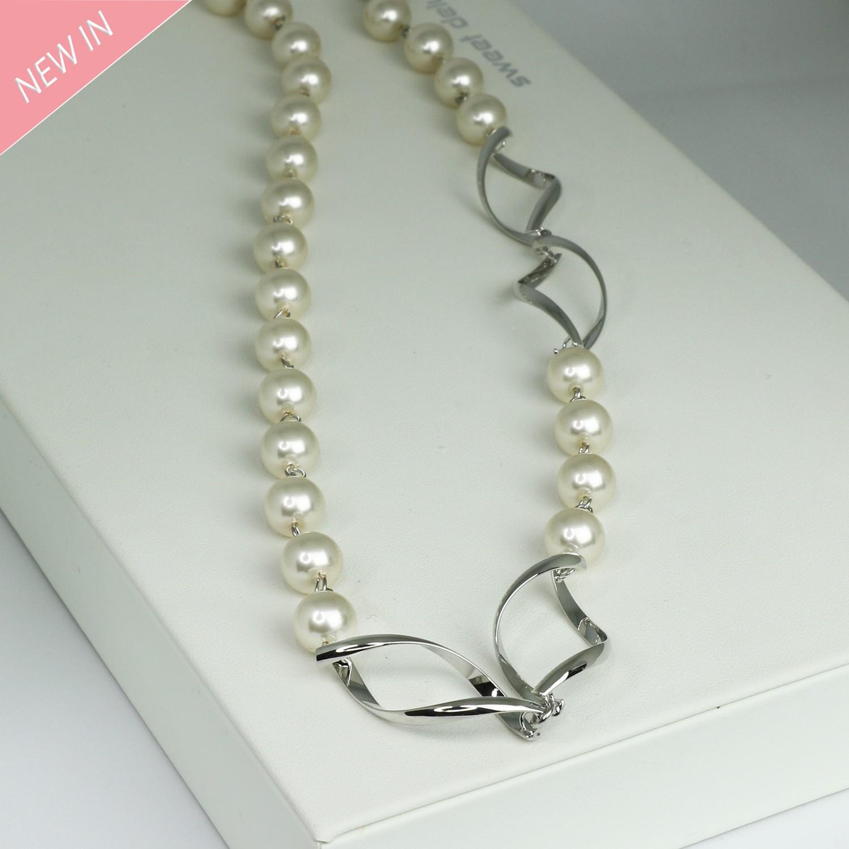 Kette, perlen silber 0
