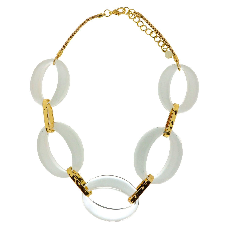 Kette Valmira, gold Acryl klar 0