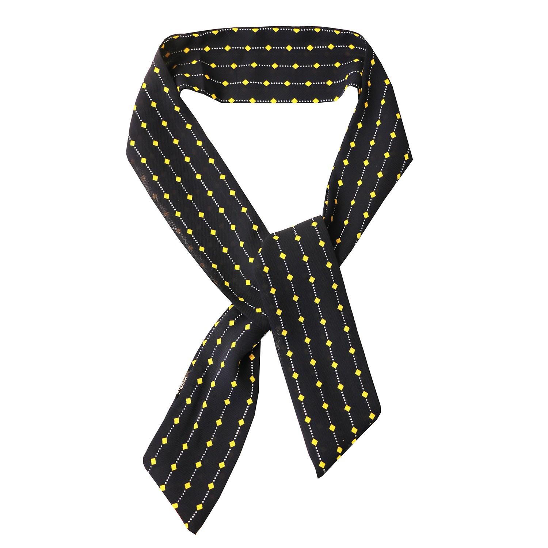 Krawatte, dkl.blau gelb 0