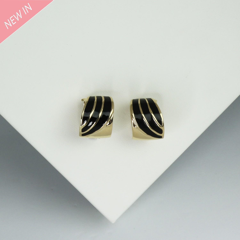 Ohrclips, gold schwarz 0