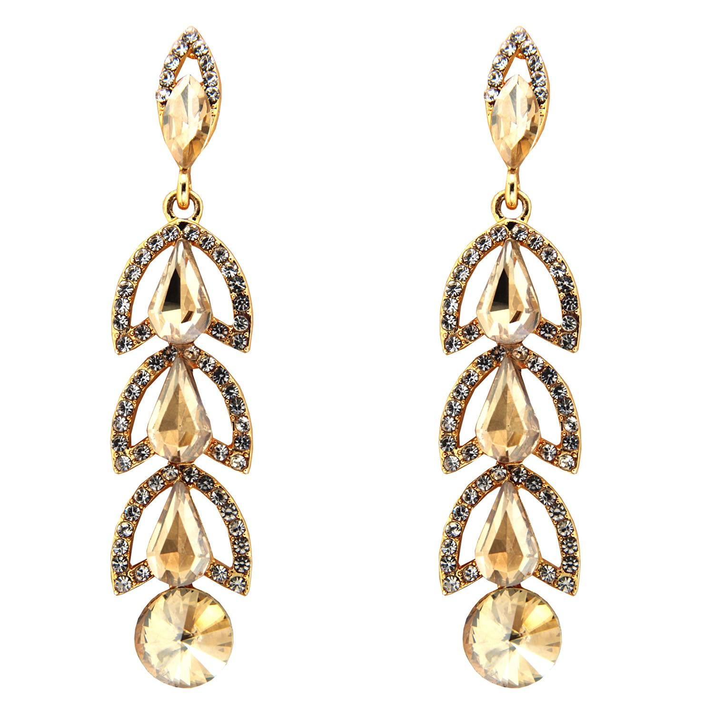 Ohrhänger Sagara, gold crystal li.topaz 0