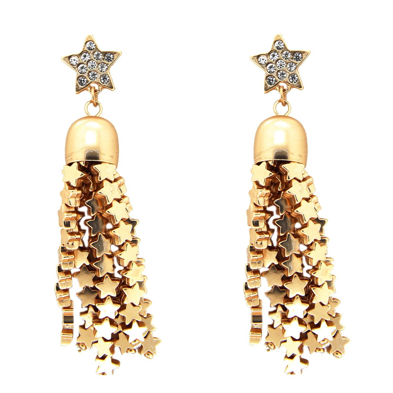 Ohrhänger Sternenregen, gold/crystal