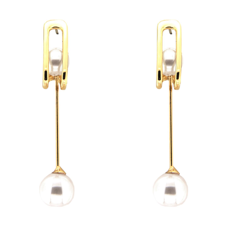 Ohrring Gosha, gold rose pearl pearl 0