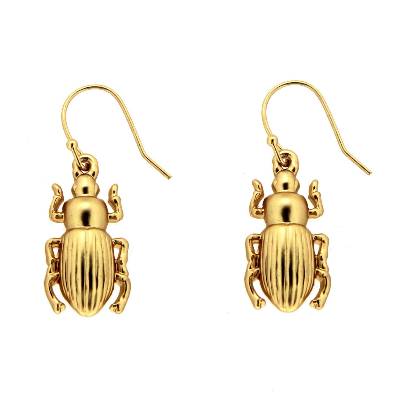 Ohrring Käfer II, mattgold 0