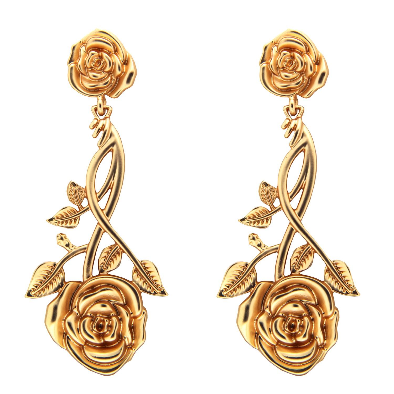Ohrring Roses, mattgold 0