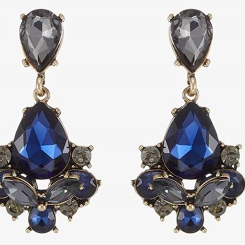 Ohrring Terzia, antikgold bl.diamond dkl.blau 0