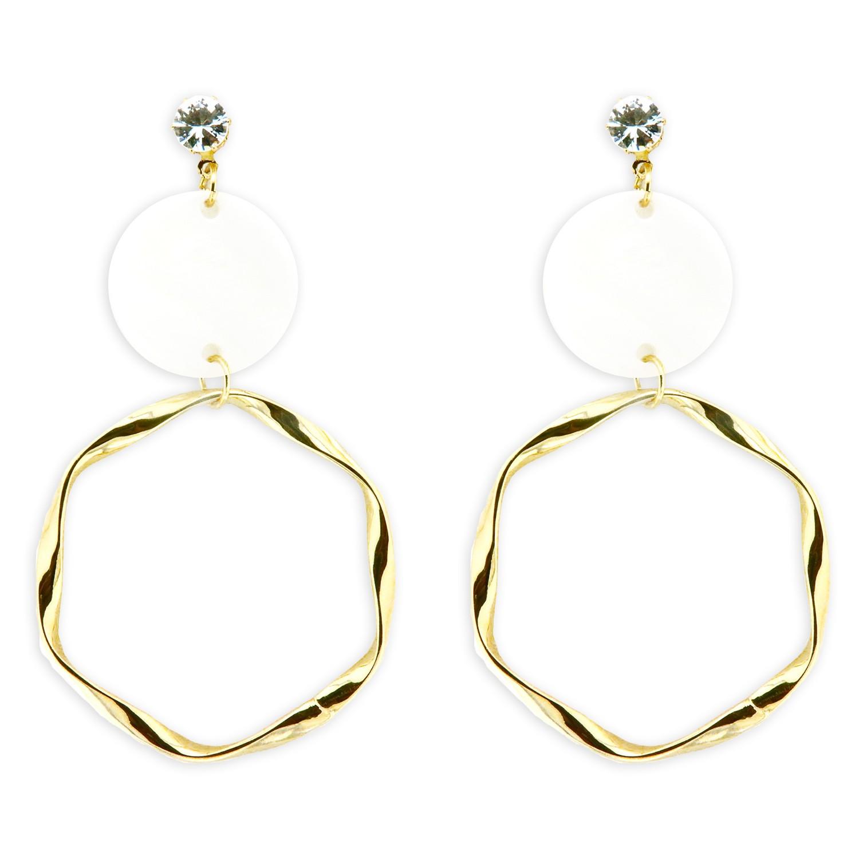 Ohrschmuck Anevay, gold weiß crystal 0