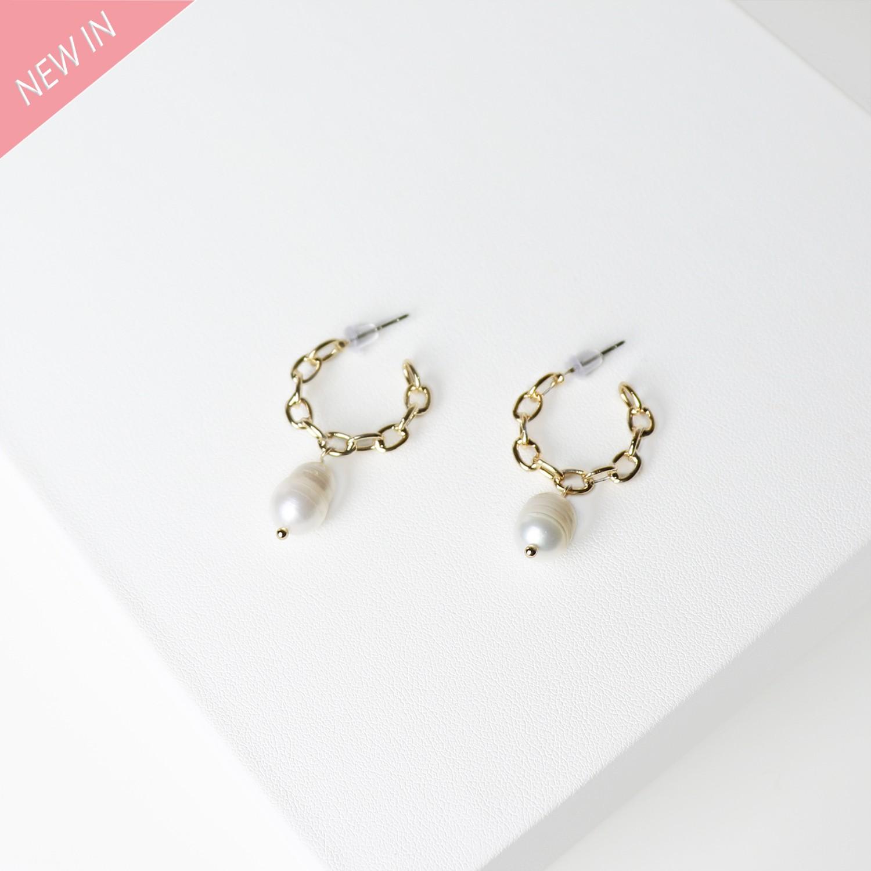 Ohrschmuck Charm pearl, gold pearl 0