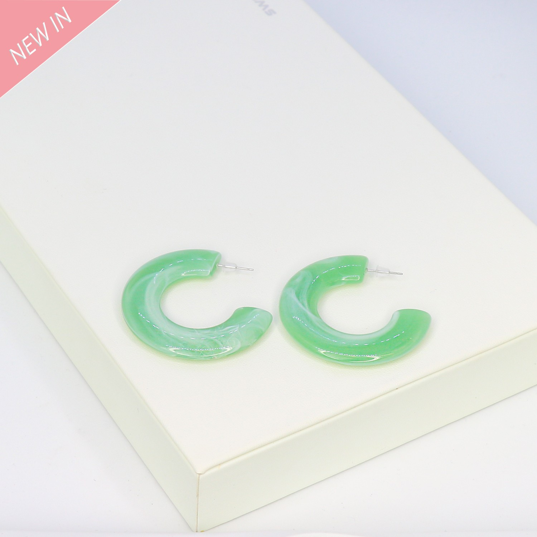 Ohrschmuck Elvia, grün acryl 0